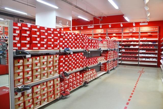 Стоковый магазин пума